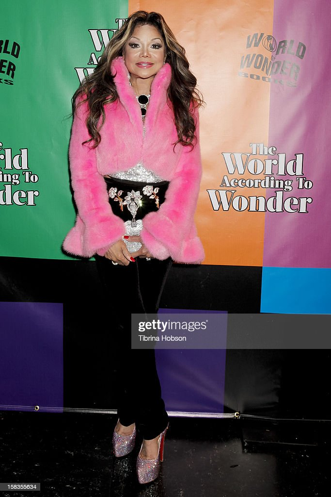 La Toya Jackson attends the 'World Of Wonder' book release party at Universal Studios Backlot on December 13, 2012 in Universal City, California.