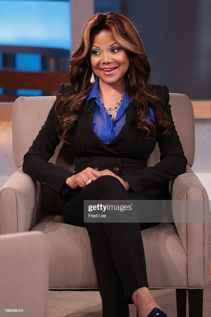 AMERICA - La Toya Jackson is a guest on 'Good Morning America,' 4/10/13, airing on the ABC Television Network. (Photo by Fred Lee/ABC via Getty Images) LA