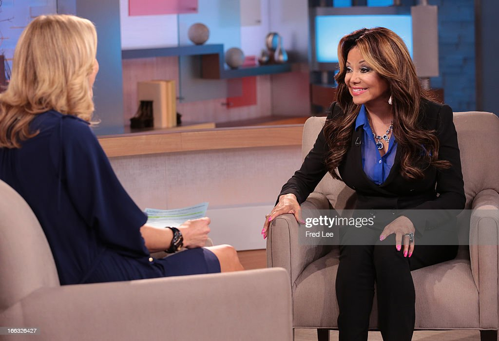 AMERICA - La Toya Jackson is a guest on 'Good Morning America,' 4/10/13, airing on the ABC Television Network. (Photo by Fred Lee/ABC via Getty Images) LARA