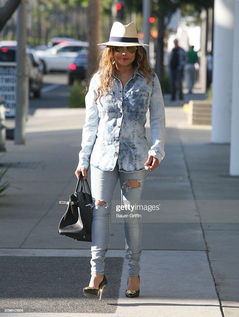 La Toya Jackson is seen on February 11, 2016 in Los Angeles, California.