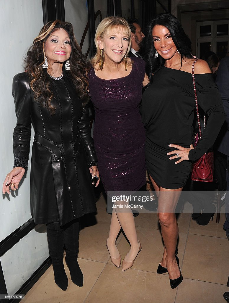La Toya Jackson, <a gi-track='captionPersonalityLinkClicked' href=/galleries/search?phrase=Lisa+Lampanelli&family=editorial&specificpeople=2091658 ng-click='$event.stopPropagation()'>Lisa Lampanelli</a> and <a gi-track='captionPersonalityLinkClicked' href=/galleries/search?phrase=Danielle+Staub&family=editorial&specificpeople=3564587 ng-click='$event.stopPropagation()'>Danielle Staub</a> attend Henri Bendel holiday window unveiling 2012 at Henri Bendel on November 15, 2012 in New York City.