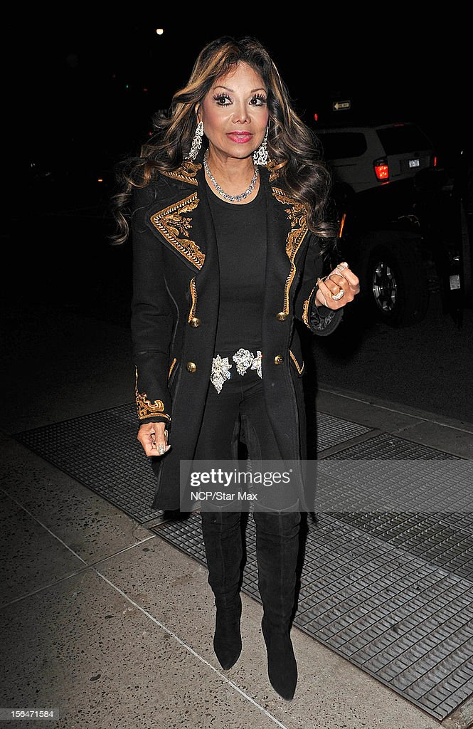 La Toya Jackson sighting on November 15, 2012 in New York City.