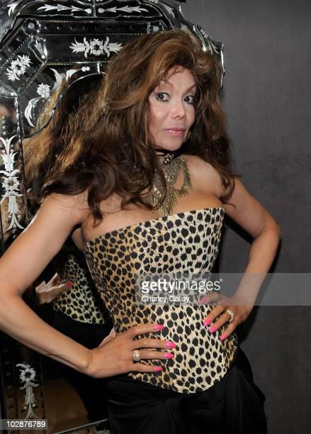 La Toya Jackson visits Lloyd Klein Studio for a fitting on July 13 2010 in Los Angeles California