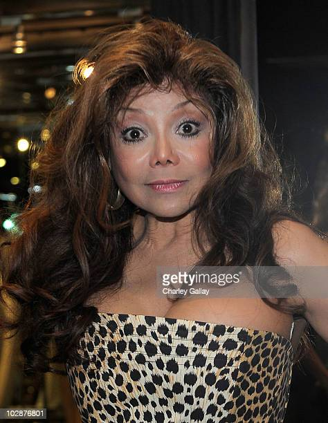 La Toya Jackson visits Lloyd Klein Studio for a fitting on July 13 2010 in Los Angeles California