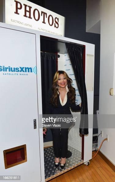La Toya Jackson visits SiriusXM Studios on April 10 2013 in New York City