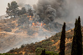 La Tuna fire in CA. The largest wildfire in Los Angeles history is still burning Monday 9-4-17, with more than a thousand firefighters trying to control the flames. The La Tuna fire has burned more th