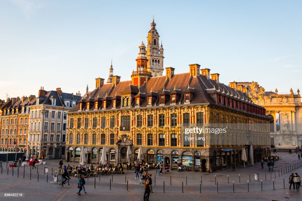 La Vieille Bourse of Lille is an ornate 17th-century renaissance stock exchange building. Today, it sits in the center of downtown Lille.