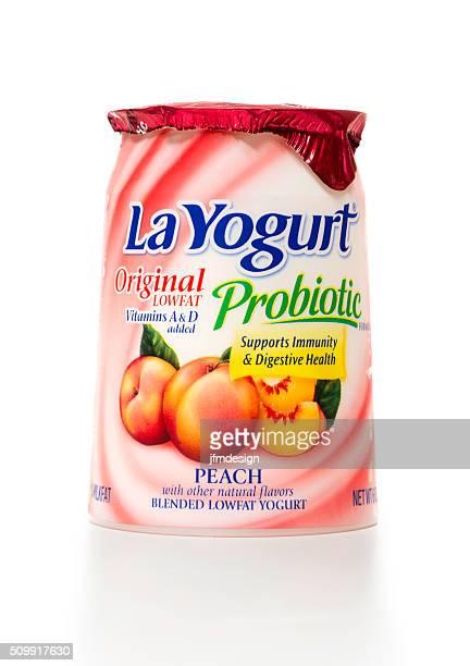 La Yogurt Peach Original lowfat probiotic