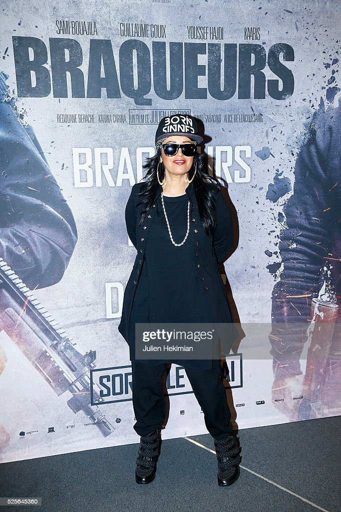 Laam attends 'Braqueurs' Premiere at UGC Cine Cite des Halles on April 28, 2016 in Paris, France.