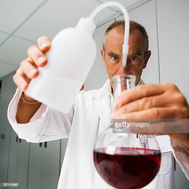 Lab Technician Experimenting