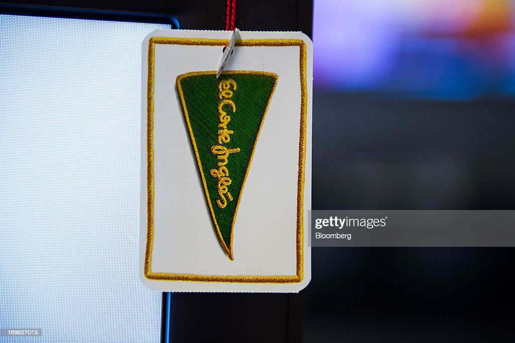 A label displays a company logo inside an El Corte Ingles SA department store in Barcelona, Spain, on Thursday, May 30, 2013. Spain's recession eased in the first quarter as domestic demand stabilized while exports, which the government says will drive the recovery of the euro-area's fourth-largest economy, fell at the fastest pace in a year. Photographer: David Ramos/Bloomberg via Getty Images