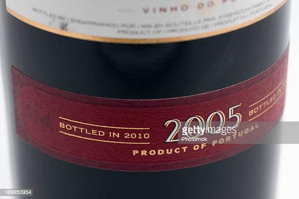 Etichetta in un ritardo in bottiglia Porto vintage