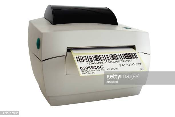 Label printer printing out a barcode
