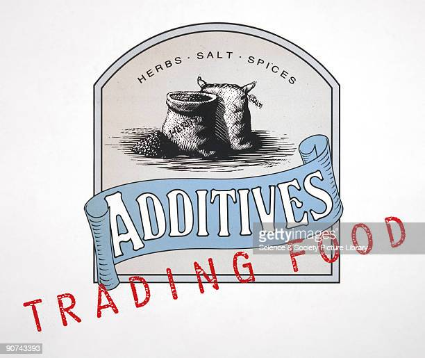 A label promoting the use of herbs salt and spices as additives to enhance the flavour of food A 'Trading Food' design logo from the Food for Thought...