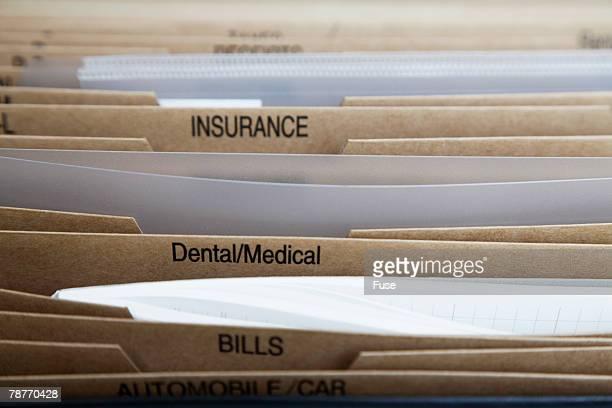 Labeled File Folders