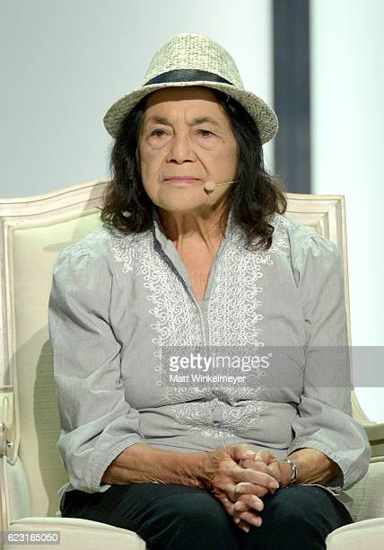 Labor Leader and Civil Rights Activist Dolores Huerta attends Glamour Women Of The Year 2016 LIVE Summit at NeueHouse Hollywood on November 14 2016...