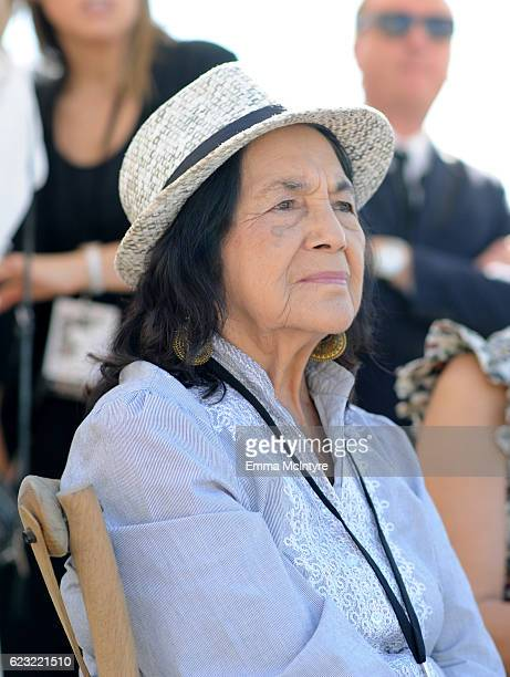 Labor Leader Civil Rights Activist Dolores Huerta attends Glamour Women Of The Year 2016 LIVE Summit Power Lunch at NeueHouse Hollywood on November...