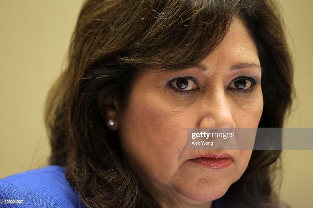 S Labor Secretary Hilda Solis pauses as she testifies during a hearing before the House Oversight and Government Reform Committee September 22 2011...
