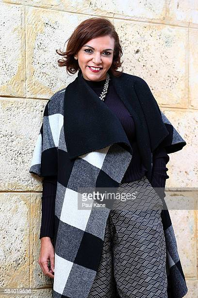 Labor senator Anne Aly poses for a portrait at Rotary Park on July 28 2016 in Perth Australia Senator Aly was born in Egypt and migrated to Australia...
