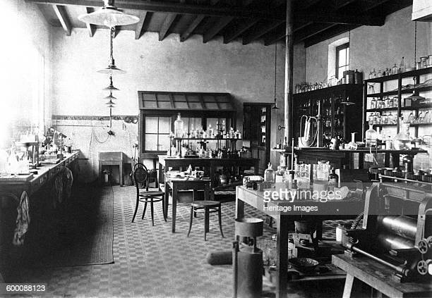 Laboratorium of Alfred Nobel at his Villa in Sanremo 1890s Found in the collection of Nobelmuseet Stockholm Artist Anonymous