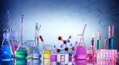 Scientific Glassware For Chemical Background