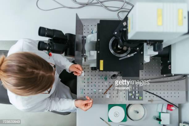 Laboratory technician working in modern lab