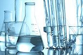 Different laboratory glassware