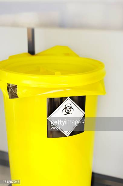 laboratory waste bin for hazardous materials