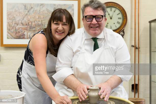 Labour candidate for Stoke on Trent North and Kidgrove Ruth Smeeth visits Middleport Pottery in her constituency famous for the Great British Throw...