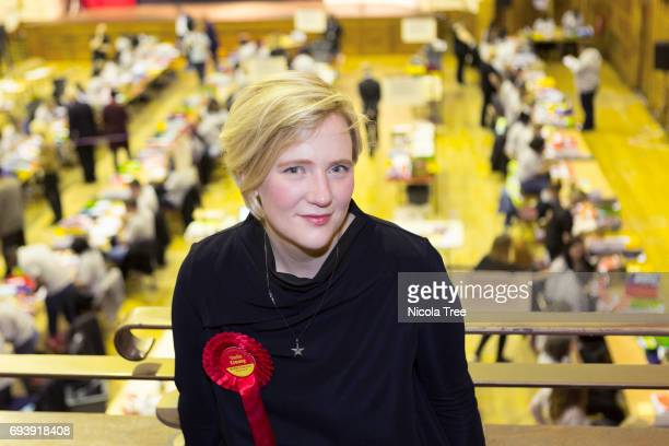 Labour Candidate Stella Creasy at the Waltham Forest count on June 8 2017 in London England After a snap election was called the United Kingdom went...