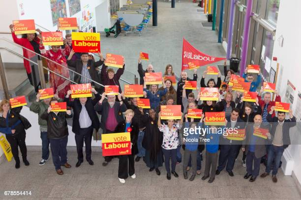 Labour candidate Stella Creasy launches her general election campaign in her Walthamstow constituency at Frederick Bremner school on May 03 2017 in...