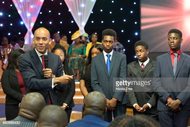 Labour candidates Chuka Umunna and Neil Coyle visit Victory House Church and speak about the London Bridge terrorist attack the June the 3rd 2017 in...