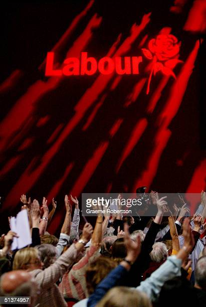 Labour delegates defeat an antiwar motion on a show of hands as they vote whether British troops should be pulled out of Iraq during the fifth and...