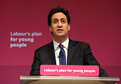 Labour leader Ed Miliband addresses students at The Leeds College of Music where he is expected to pledge a reduction in university tuition fees if...