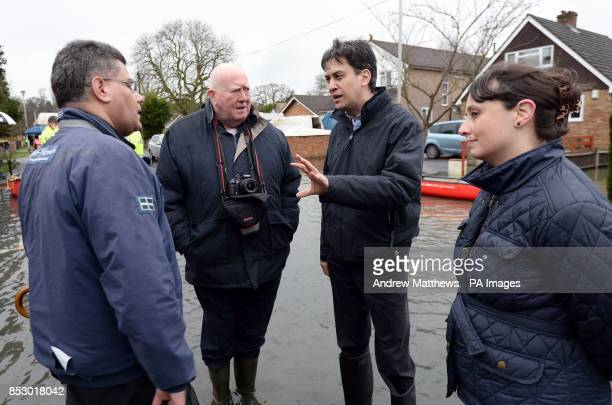 Labour leader Ed Miliband speaks with Alok Sharma MP for Reading West Victoria Groulef Labour's Parliamentary Candidate for Reading West and parish...