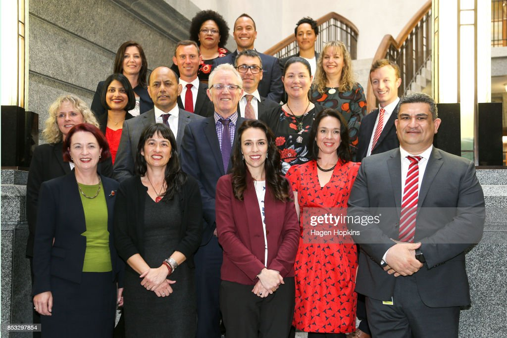 Jacinda Ardern Presents New Provisional Labour Caucus As NZ Waits On Election Result