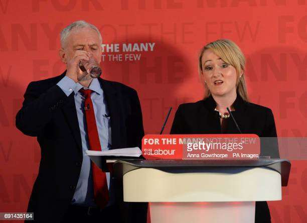 Labour leader Jeremy Corbyn alongside Shadow Business Secretary Rebecca LongBailey during a visit to York Science Park on the general election...