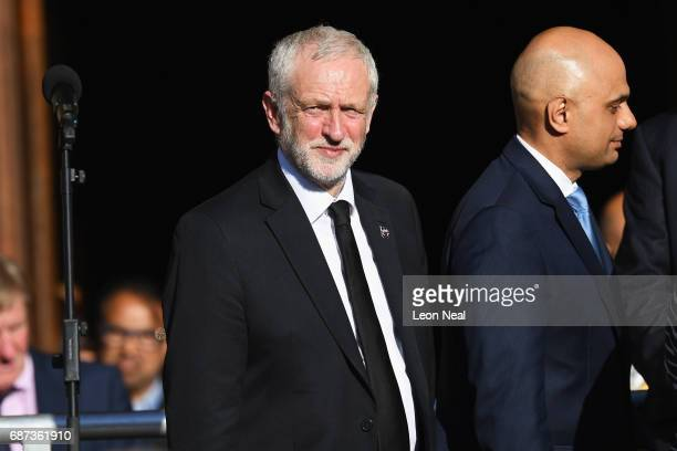 Labour Leader Jeremy Corbyn and Secretary of State for Communities and Local Government Sajid Javid attend a candlelit vigil to honour the victims of...