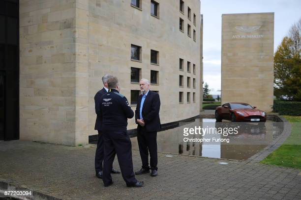 Labour Leader Jeremy Corbyn arrives at the manufacturing plant of luxury car maker Aston Martin on November 16 2017 in Warwick England Jeremy Corbyn...