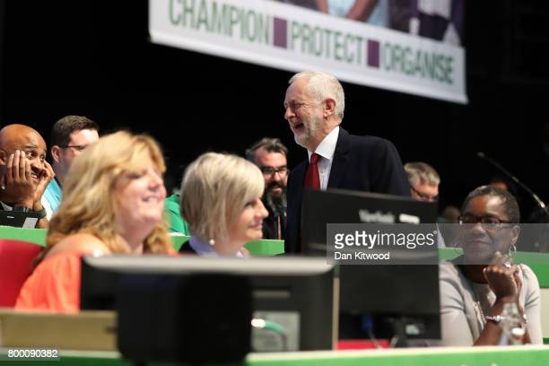 Labour Leader Jeremy Corbyn arrives to speak to delegates at the Unison Conference on June 23 2017 in Brighton England The Labour Party leader...