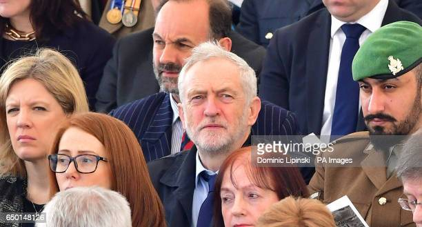 Labour leader Jeremy Corbyn attending a Military Drumhead Service on Horse Guards Parade in London ahead of the unveiling of a national memorial...