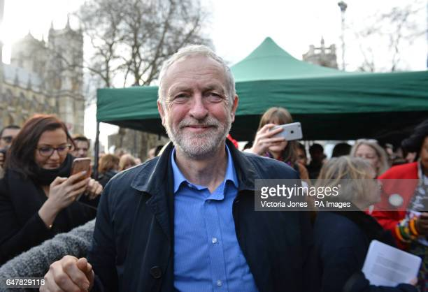 Labour leader Jeremy Corbyn attends a rally in central London in support of the NHS