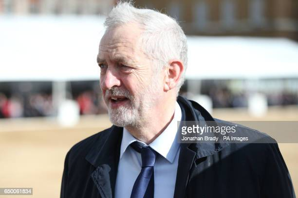 Labour leader Jeremy Corbyn before the Military Drumhead Service on Horse Guards Parade in London ahead of the unveiling of a national memorial...