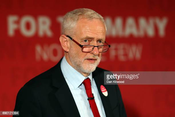 Labour Leader Jeremy Corbyn launches their party's 'Race and Faith' manifesto during an event on May 30 2017 in Watford England Britain goes to the...
