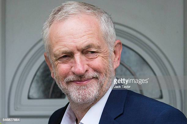 Labour Leader Jeremy Corbyn leaves his home in Islington on July 13 2016 in London England The Labour Party's ruling National Executive Committee...