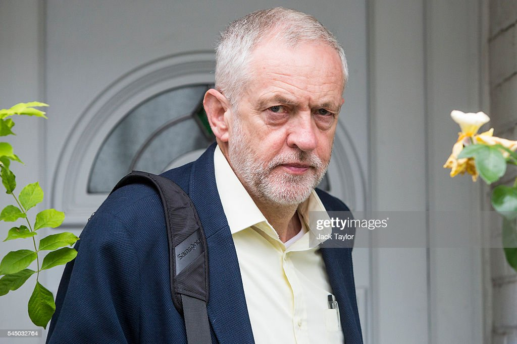 Jeremy Corbyn Leaves Home Amid Threats To The Labour  Leadership