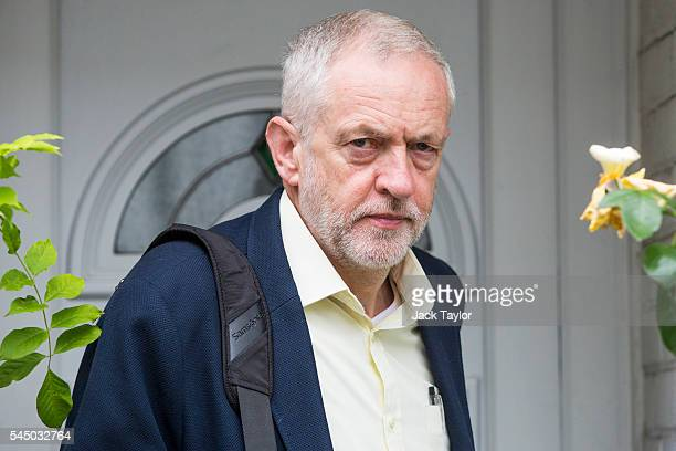 Labour Leader Jeremy Corbyn leaves his home in Islington on July 5 2016 in London England Mr Corbyn has said he will remain as leader of Labour...