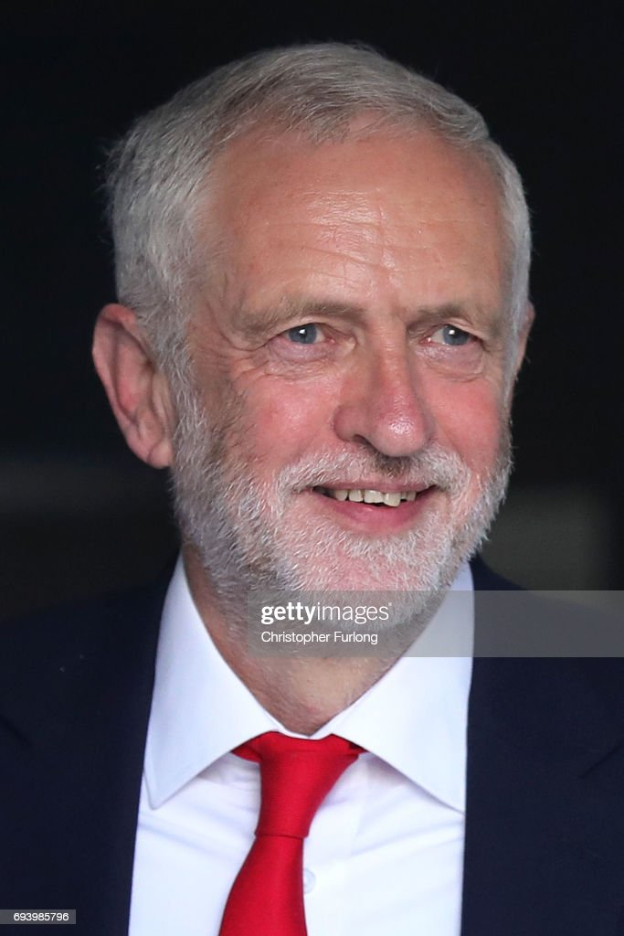 Labour Leader Jeremy Corbyn leaves his home on June 9, 2017 in London, England. After a snap election was called by Prime Minister Theresa May the United Kingdom went to the polls yesterday. The closely fought election has failed to return a clear overall majority winner and a hung parliament has been declared.