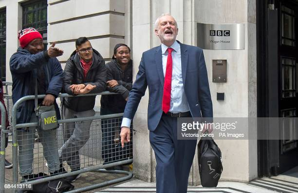 Labour leader Jeremy Corbyn leaving BBC Broadcasting House in London after an appearance on the Jeremy Vine show on Radio 2