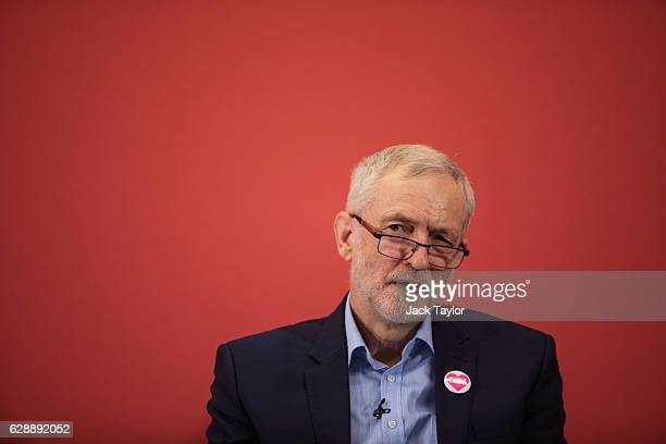 Labour Leader Jeremy Corbyn makes a speech at the Methodist Central Hall in Westminster on December 10 2016 in London England Mr Corbyn was joined by...